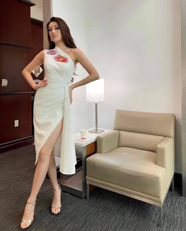 """Hoa hậu Khánh Vân chào nước Mỹ bằng màn catwalk """"thần sầu"""", lọt top 21 BXH Miss Universe - Ảnh 5."""