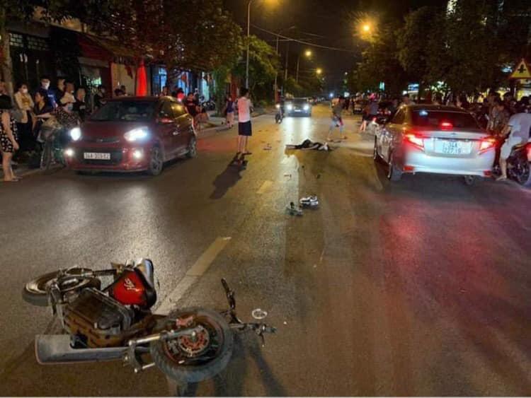 Hải Dương: Lái xe gây tai nạn liên hoàn làm chết 1 nữ sinh và nhiều người bị thương - Ảnh 1.