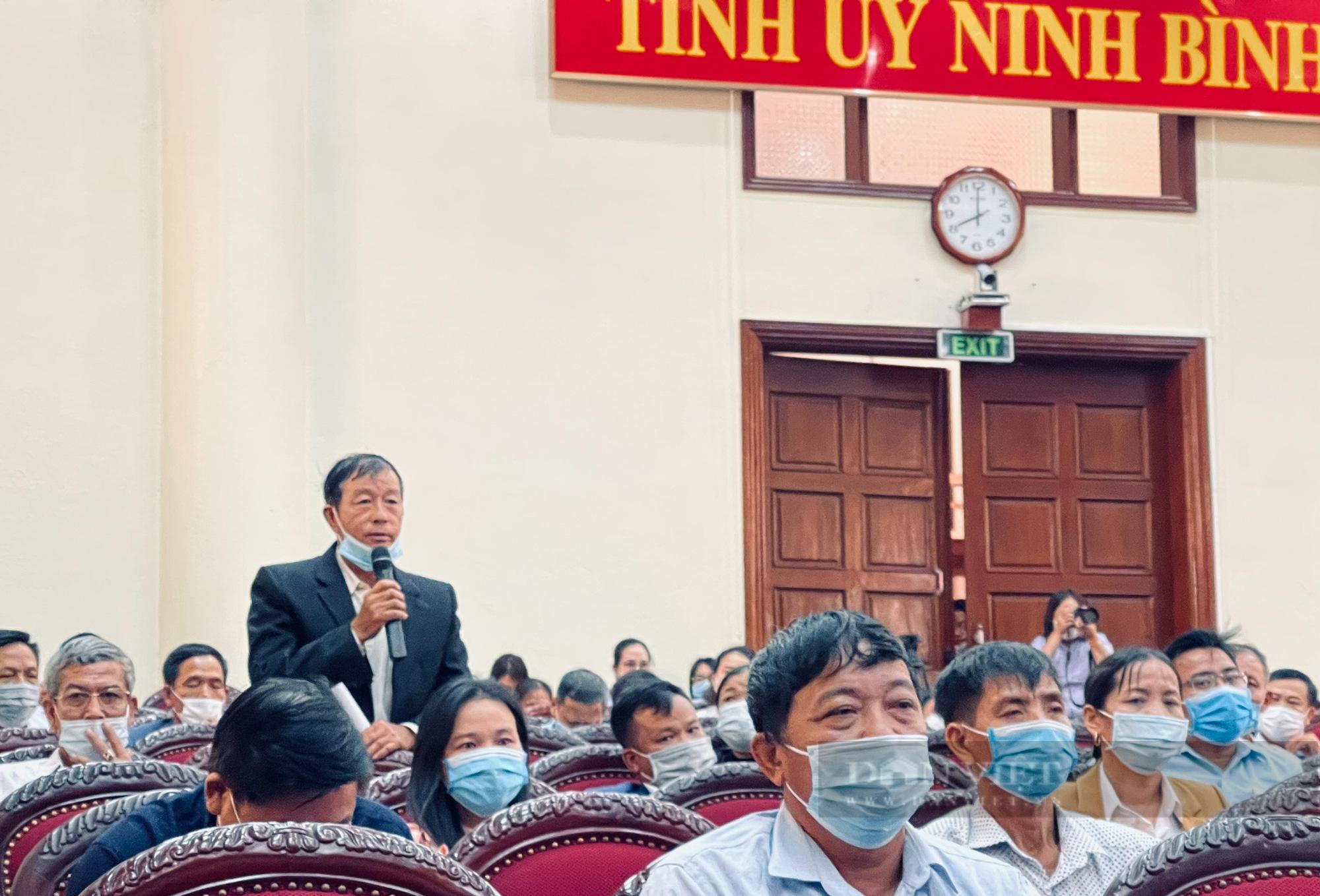 """Thường trực Tỉnh uỷ Ninh Bình đối thoại, giải đáp nhiều vấn đề """"nóng"""" với cán bộ, hội viên nông dân - Ảnh 3."""
