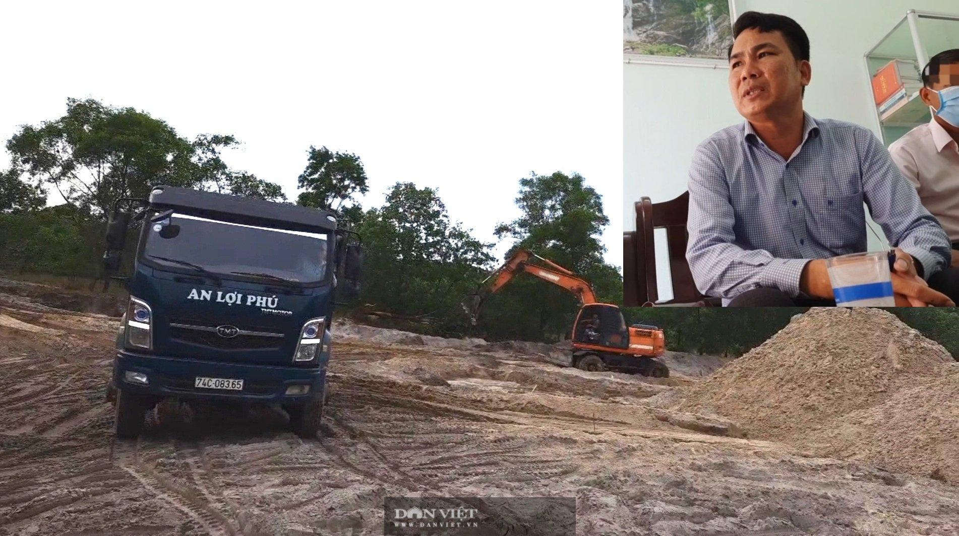 Vụ anh ruột Chủ tịch xã khai thác đất cát trái phép: Hứa một đường làm một nẻo - Ảnh 1.