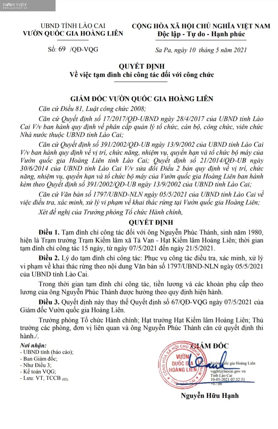 Phá rừng pơ mu VQG Hoàng Liên: UBND tỉnh Lào Cai sẽ tiếp tục xử lý trách nhiệm tổ chức, cá nhân có liên quan - Ảnh 3.