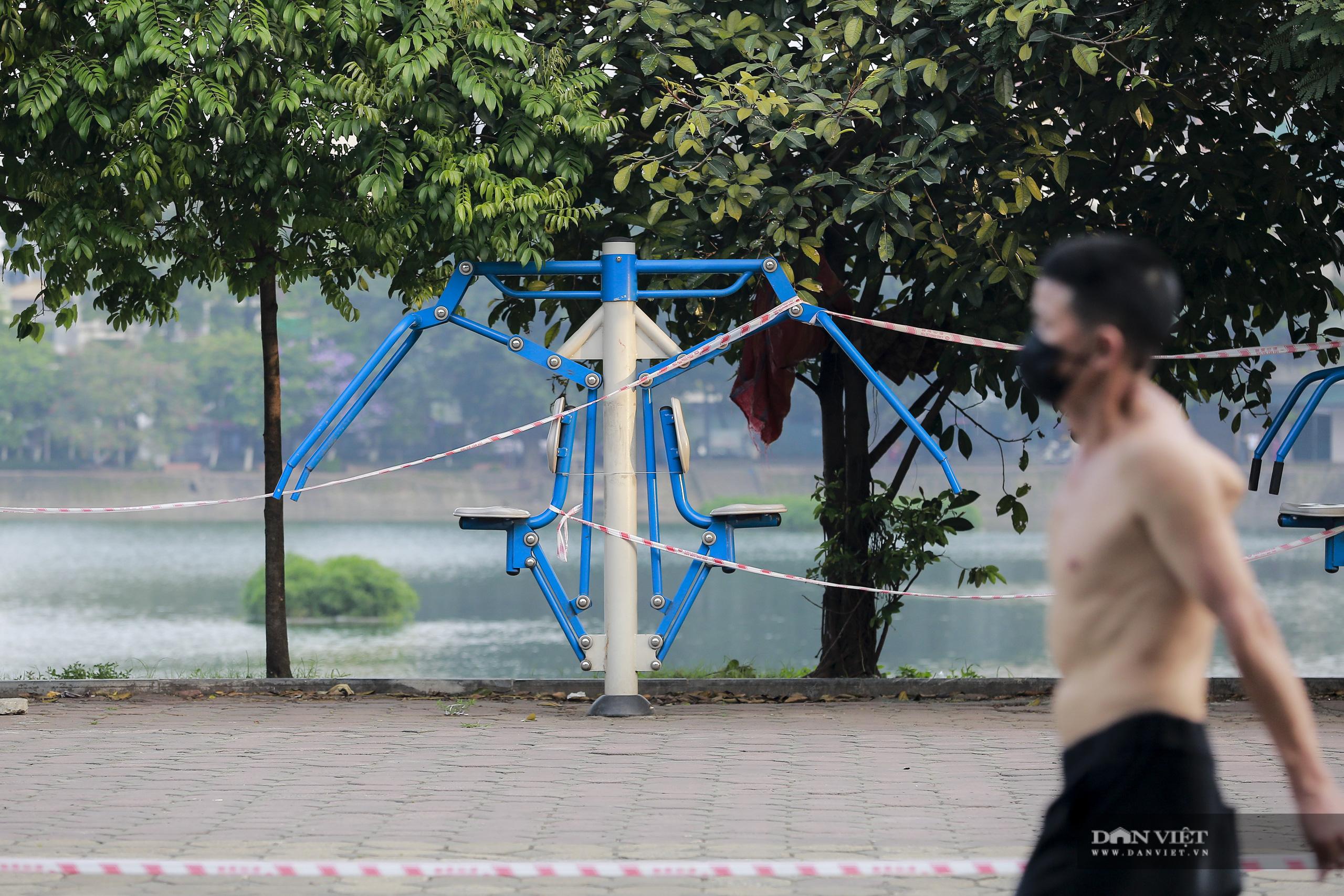 """Hà Nội: căng dây máy tập thể dục, người dân vẫn """"làm ngơ"""" - Ảnh 2."""