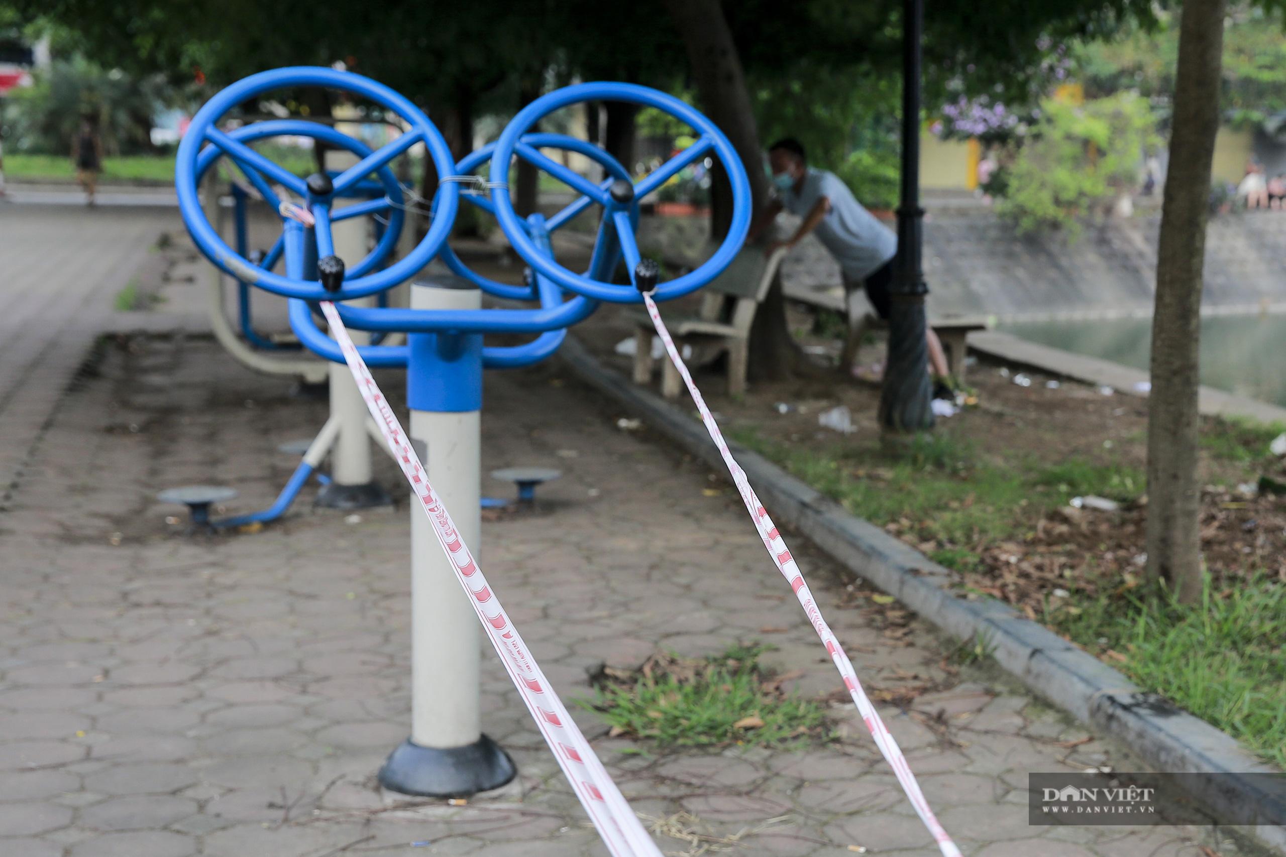 """Hà Nội: căng dây máy tập thể dục, người dân vẫn """"làm ngơ"""" - Ảnh 5."""