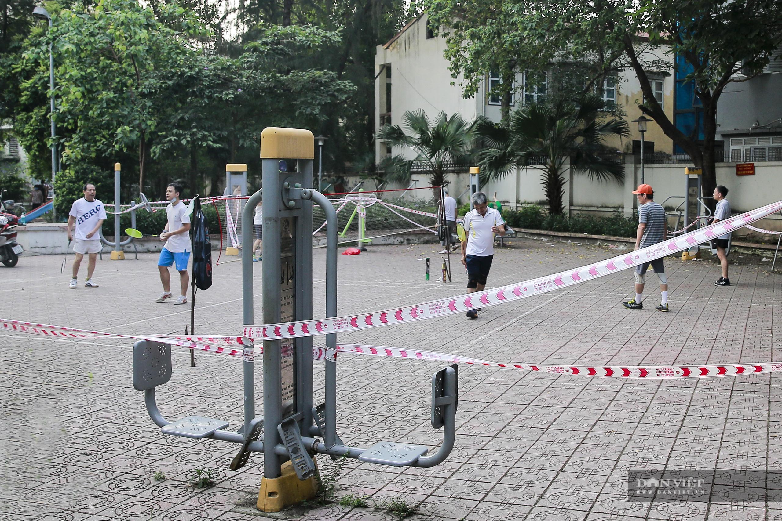 """Hà Nội: căng dây máy tập thể dục, người dân vẫn """"làm ngơ"""" - Ảnh 7."""
