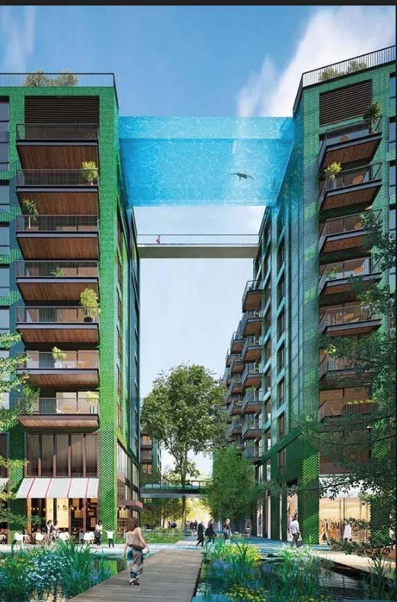 """Anh: Độc đáo với hồ bơi nổi trên trời có kích thước """"khủng"""" sẽ mở cửa vào tháng 5 - Ảnh 3."""