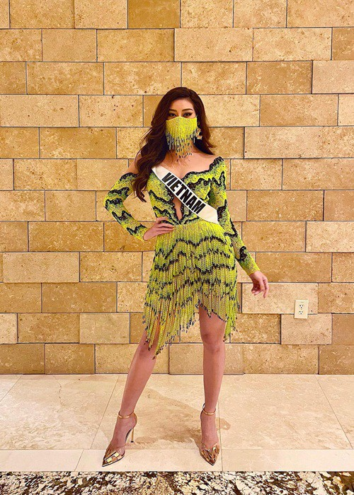 Hoa hậu Khánh Vân diện trang phục ruộng bậc thang cực độc đáo, thu hút sự chú ý của dân tình - Ảnh 2.