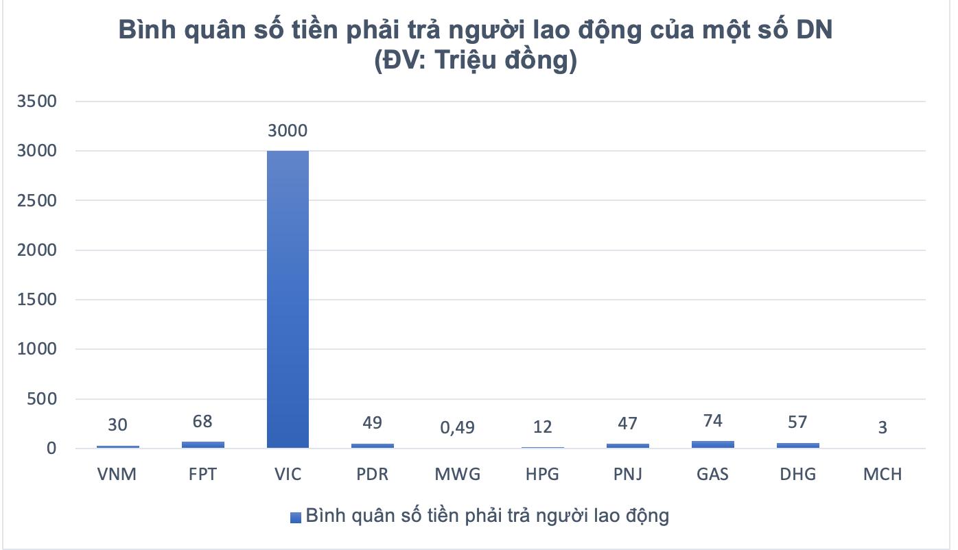 PNJ, GAS, DHG và nhiều DN thuộc Cổ phiếu blue chip ghi nhận nợ người lao động và Thuế tăng mạnh trong năm 2020 - Ảnh 2.