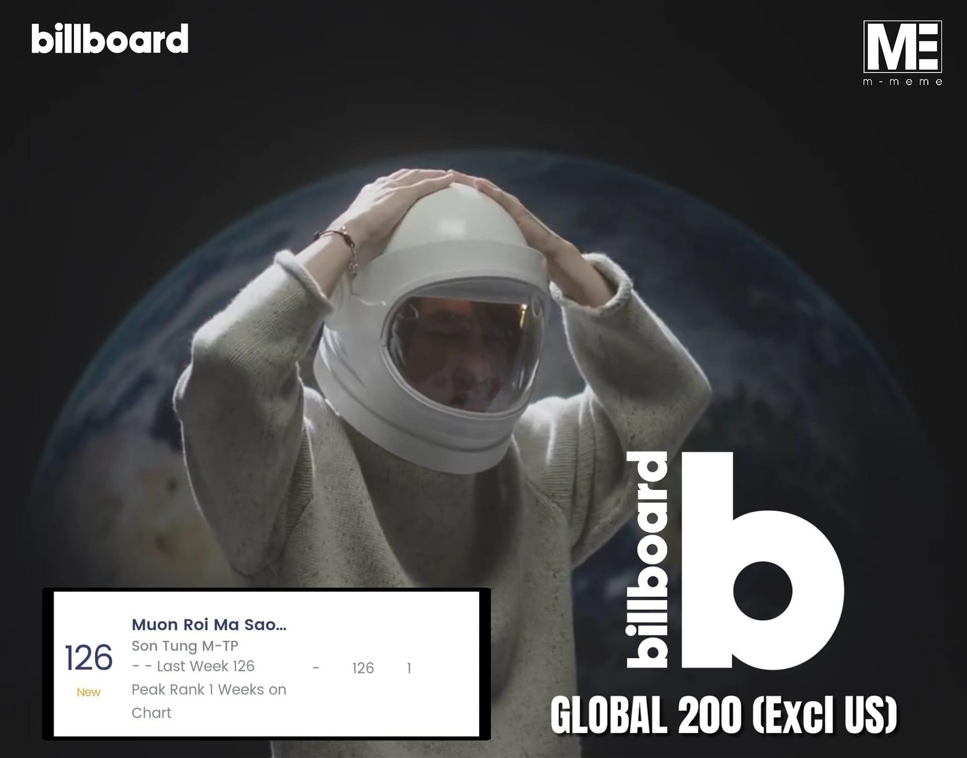 Sơn Tùng vượt mặt nhiều giọng ca đình đám của Đông Nam Á, lập kỳ tích tại Billboard Global 200 - Ảnh 3.