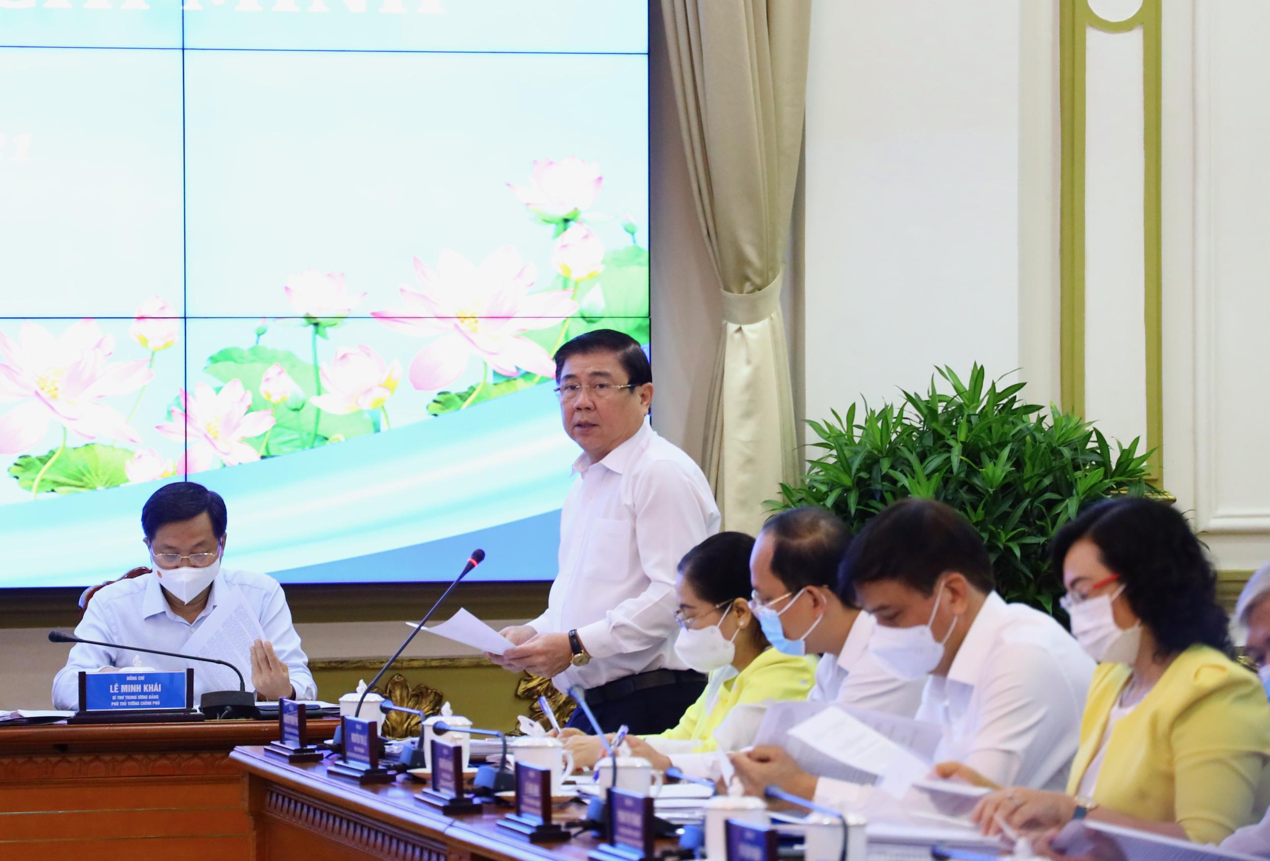 """Làm việc với Thủ tướng Chính phủ, Chủ tịch UBND TP.HCM nói: """"Thành phố đang đối mặt với rất nhiều thách thức"""" - Ảnh 3."""