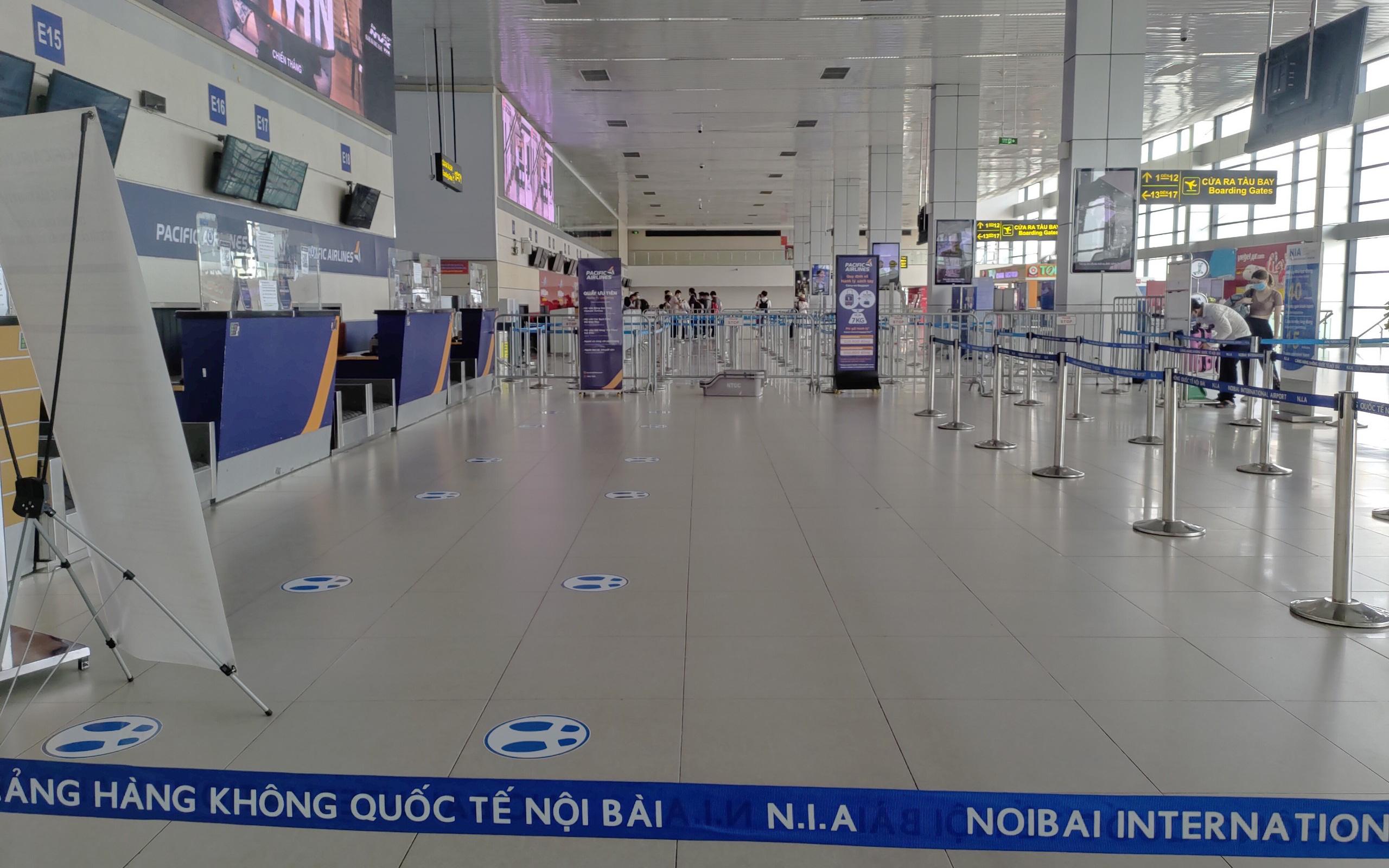 Điều chỉnh tạm thời phương án khai thác tại nhà ga hành khách T1 -  Cảng HKQT Nội Bài từ ngày 17/5/2021