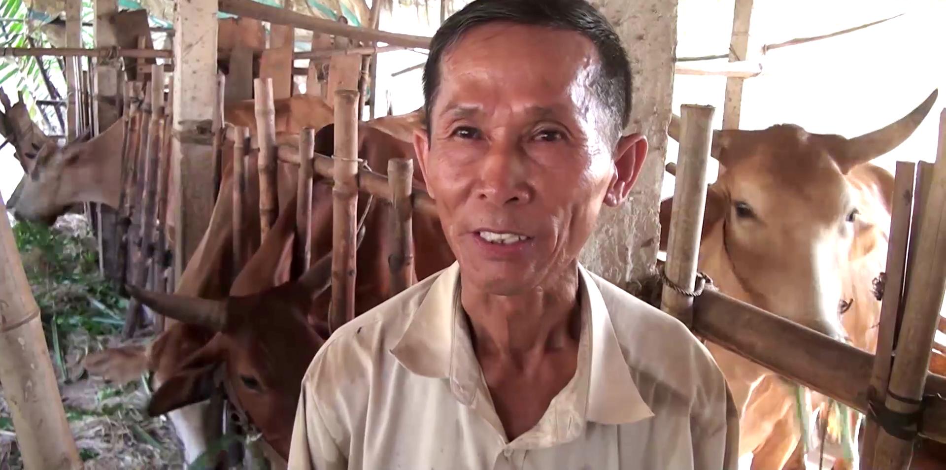 """Tiền Giang: """"Độc chiêu"""" nuôi bò, ông nông dân từ nghèo khó trở thành giàu có, được Thủ tướng khen - Ảnh 1."""