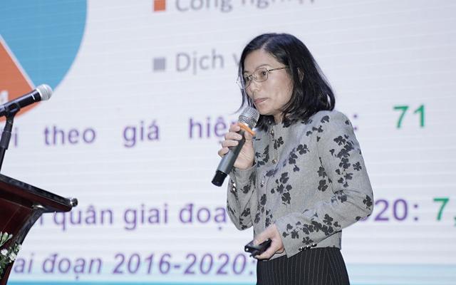 Bà Phạm Thị Nhâm - Phó Giám đốc Sở Khoa học Công nghệ đánh giá hoạt động quản lý nhãn hiệu ở Lâm Đồng.