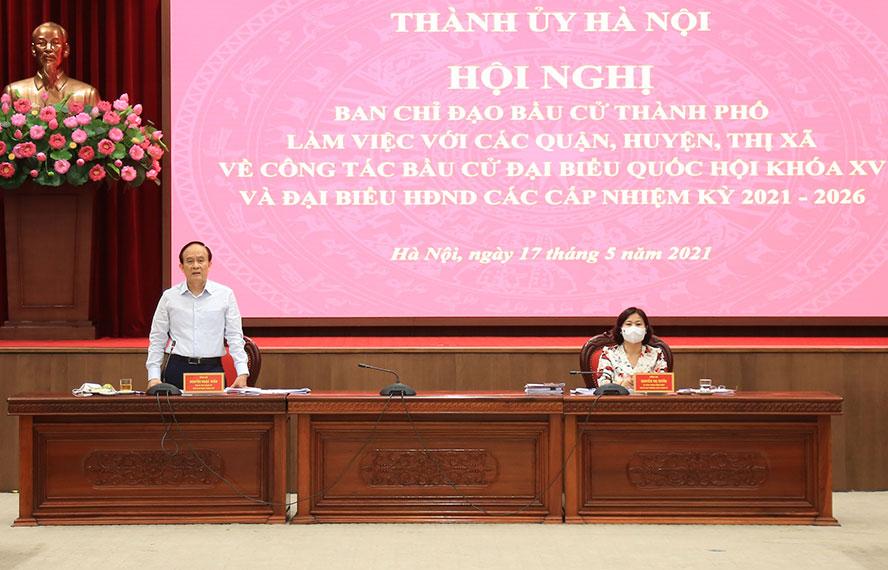 Bầu cử ở Hà Nội: Người đứng đầu cấp ủy phải chịu trách nhiệm toàn diện - Ảnh 2.