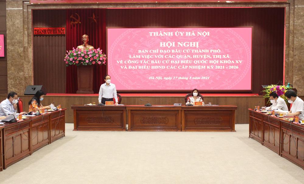 Bầu cử ở Hà Nội: Người đứng đầu cấp ủy phải chịu trách nhiệm toàn diện - Ảnh 1.