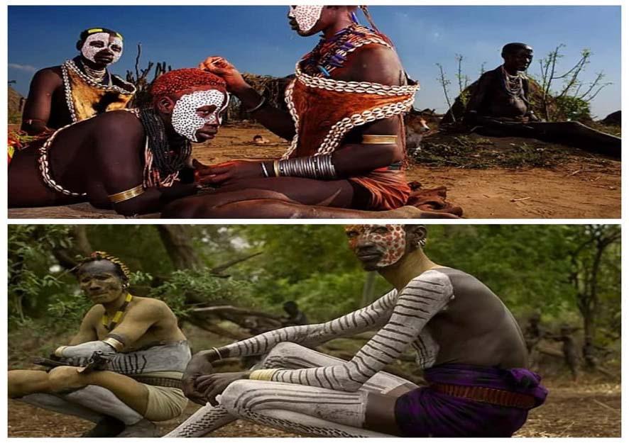 Châu Phi: Độc đáo tục lệ đàn ông bộ tộc Karo tự rạch thân thể tạo sẹo để thể hiện lòng dũng cảm - Ảnh 2.