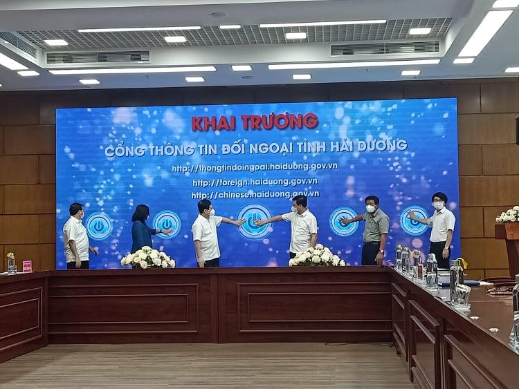 Hải Dương: Khai trương Cổng Thông tin đối ngoại - Ảnh 1.