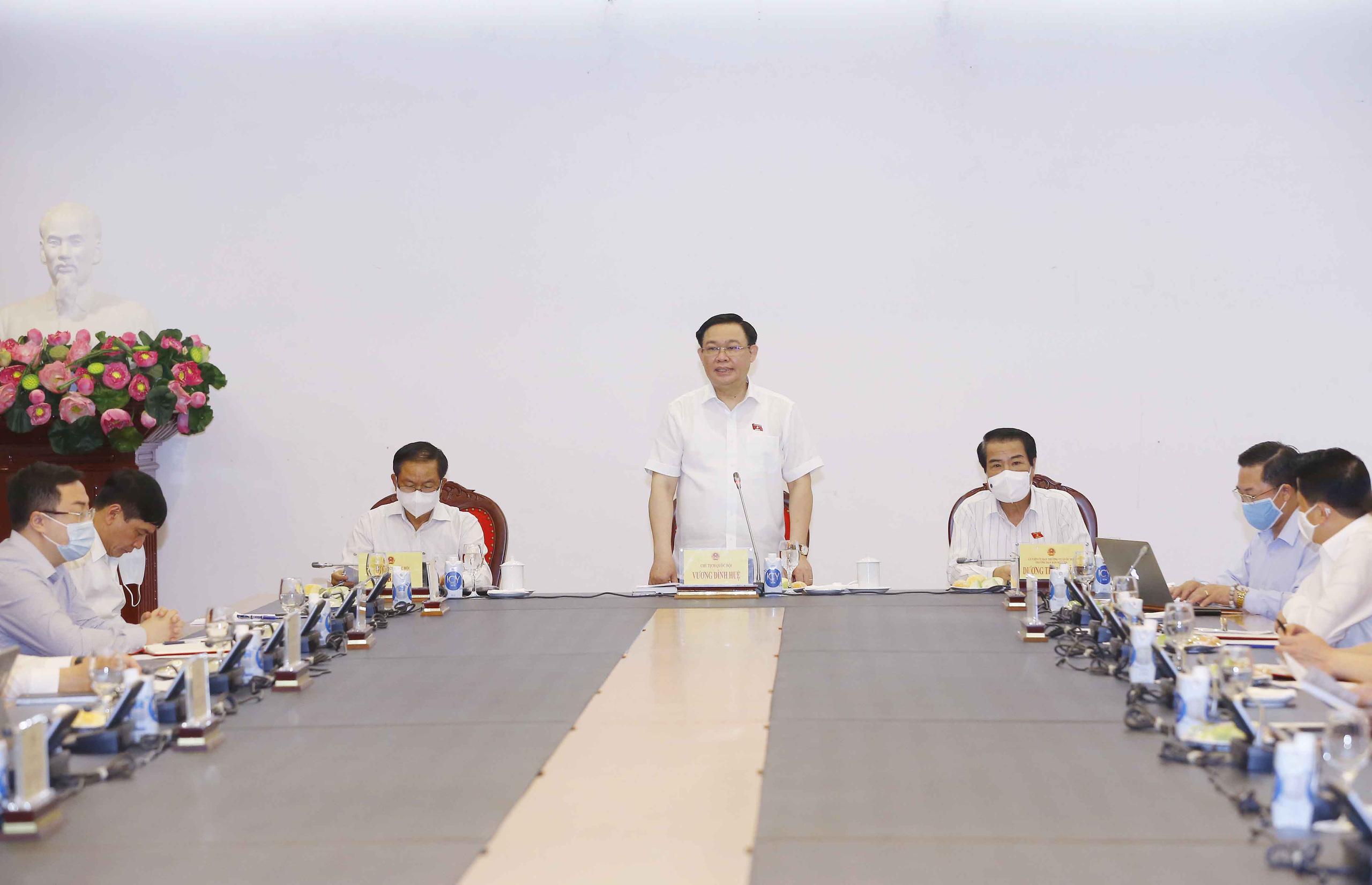 Chủ tịch Quốc hội Vương Đình Huệ làm việc với Ban Dân nguyện   - Ảnh 2.
