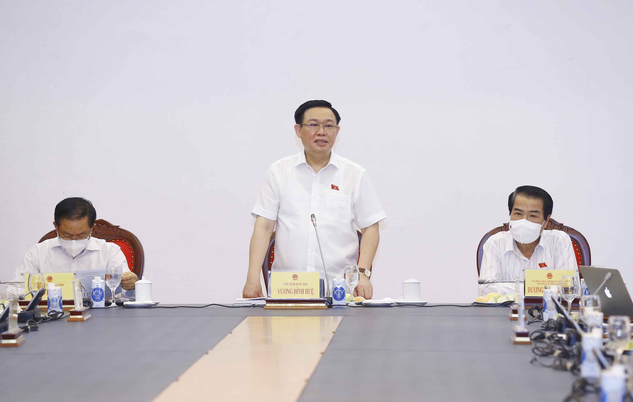 Chủ tịch Quốc hội Vương Đình Huệ làm việc với Ban Dân nguyện   - Ảnh 1.