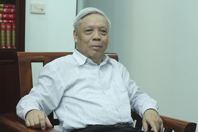 PGS.TS Nguyễn Trọng Phúc, nguyên Viện trưởng Viện Lịch sử Đảng, Học viện Chính trị Quốc gia Hồ Chí Minh. (Ảnh: Thành An).