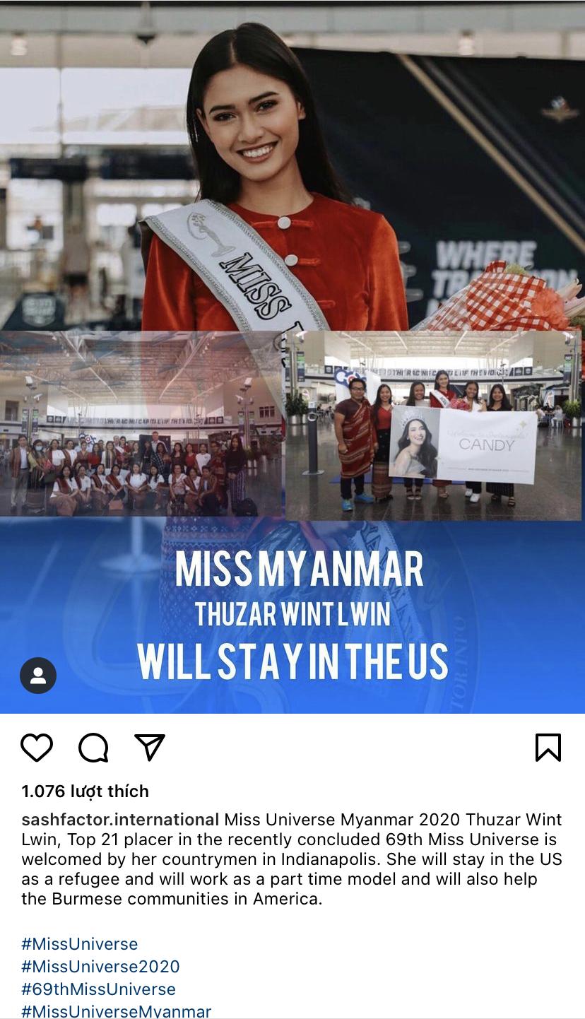 """Động thái của đại diện Myanmar sau màn """"cầu cứu"""" tại Miss Universe 2020 gây xôn xao - Ảnh 2."""
