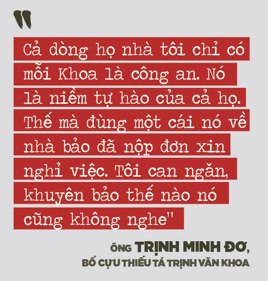 """Bố mẹ cựu thiếu tá công an Trịnh Văn Khoa: """"Gia đình tôi tiếc và lo lắm, nhưng rất tự hào về Khoa"""" - Ảnh 3."""