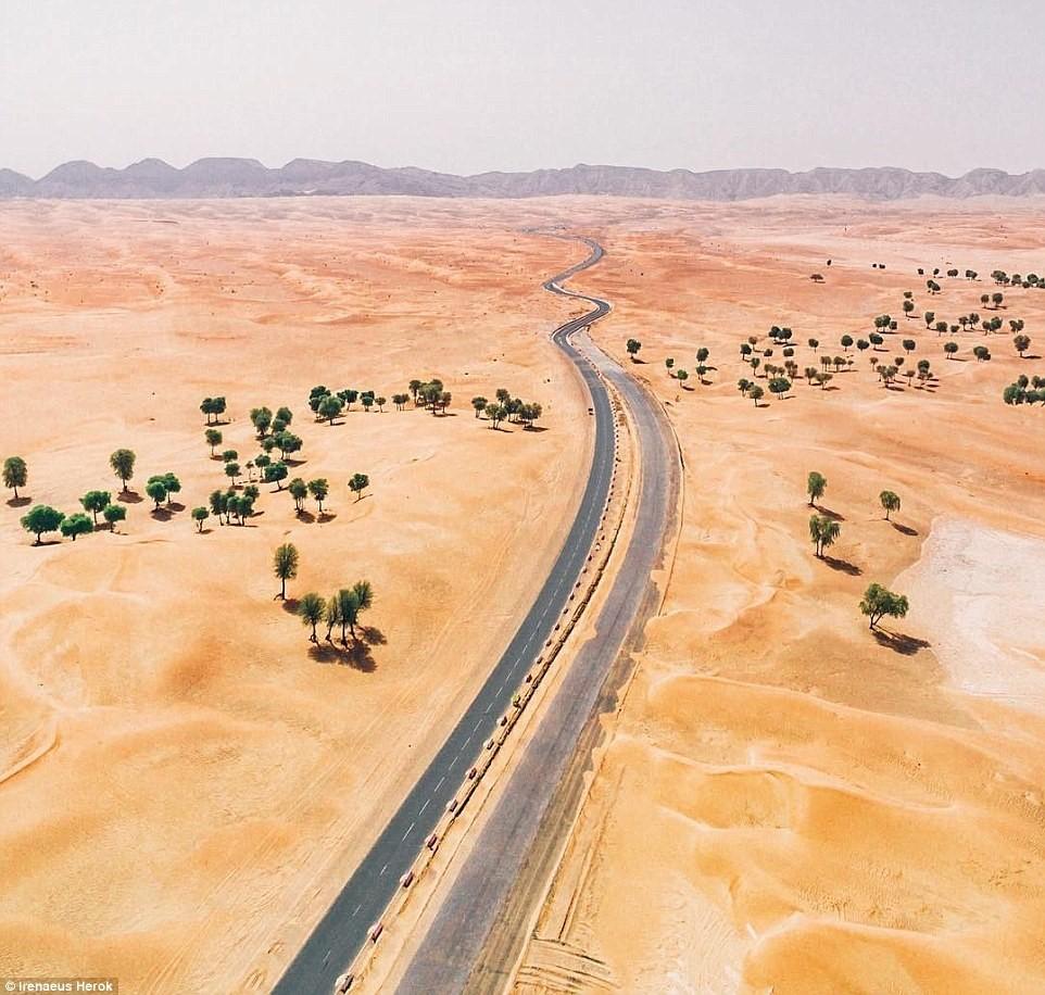 Vẻ đẹp siêu thực của Dubai nhìn từ trên cao - Ảnh 7.