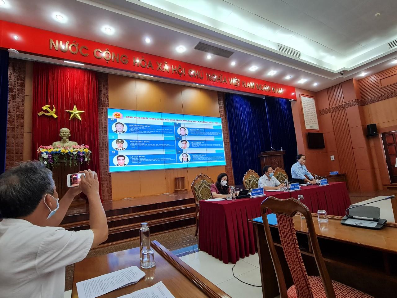 Quảng Nam: 57 đại biểu trúng cử HĐND tỉnh - Ảnh 1.
