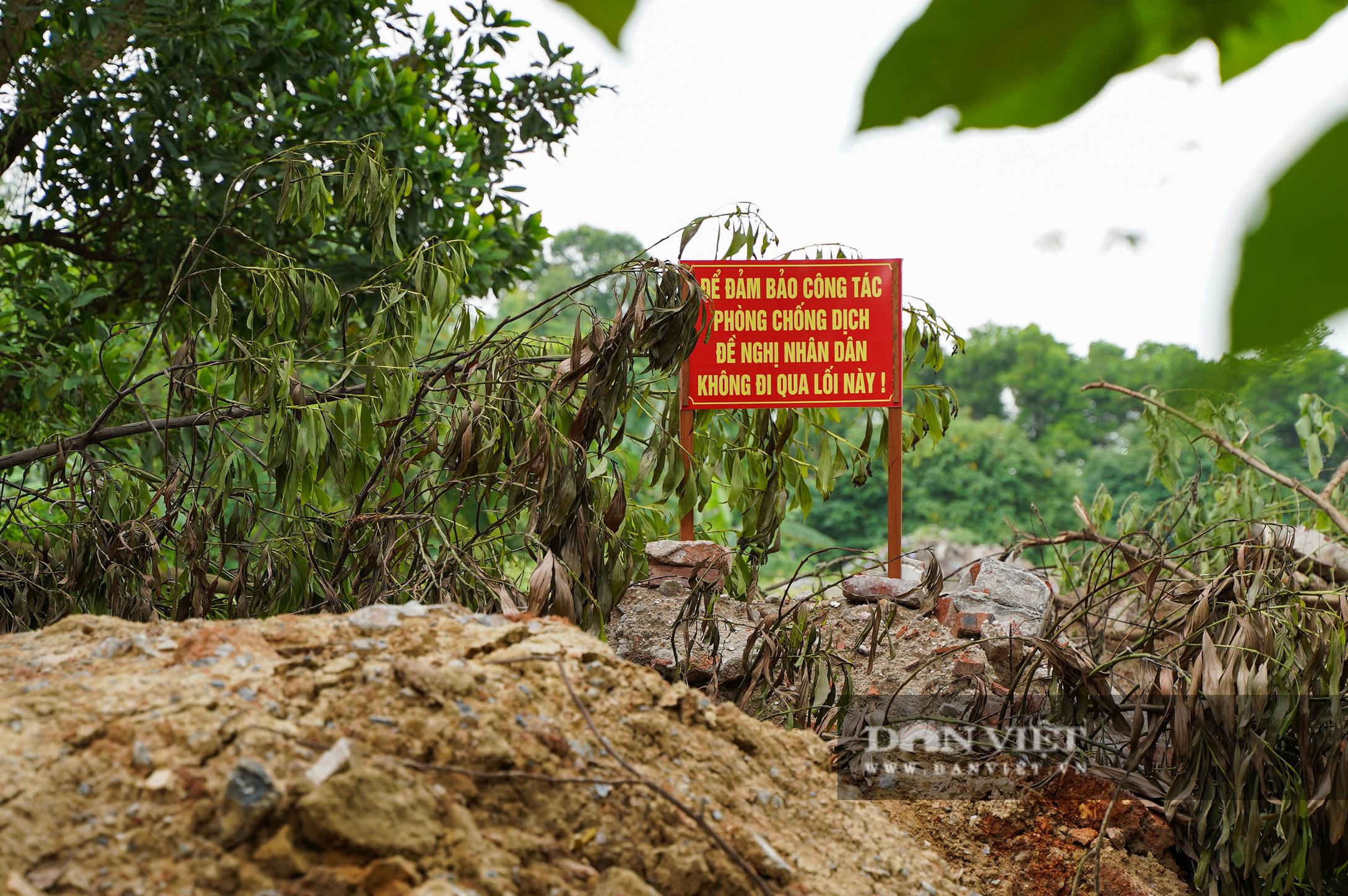 Hà Nội: Đổ đất, dựng rào phòng dịch tại các nơi tiếp giáp Bắc Giang, Bắc Ninh - Ảnh 10.