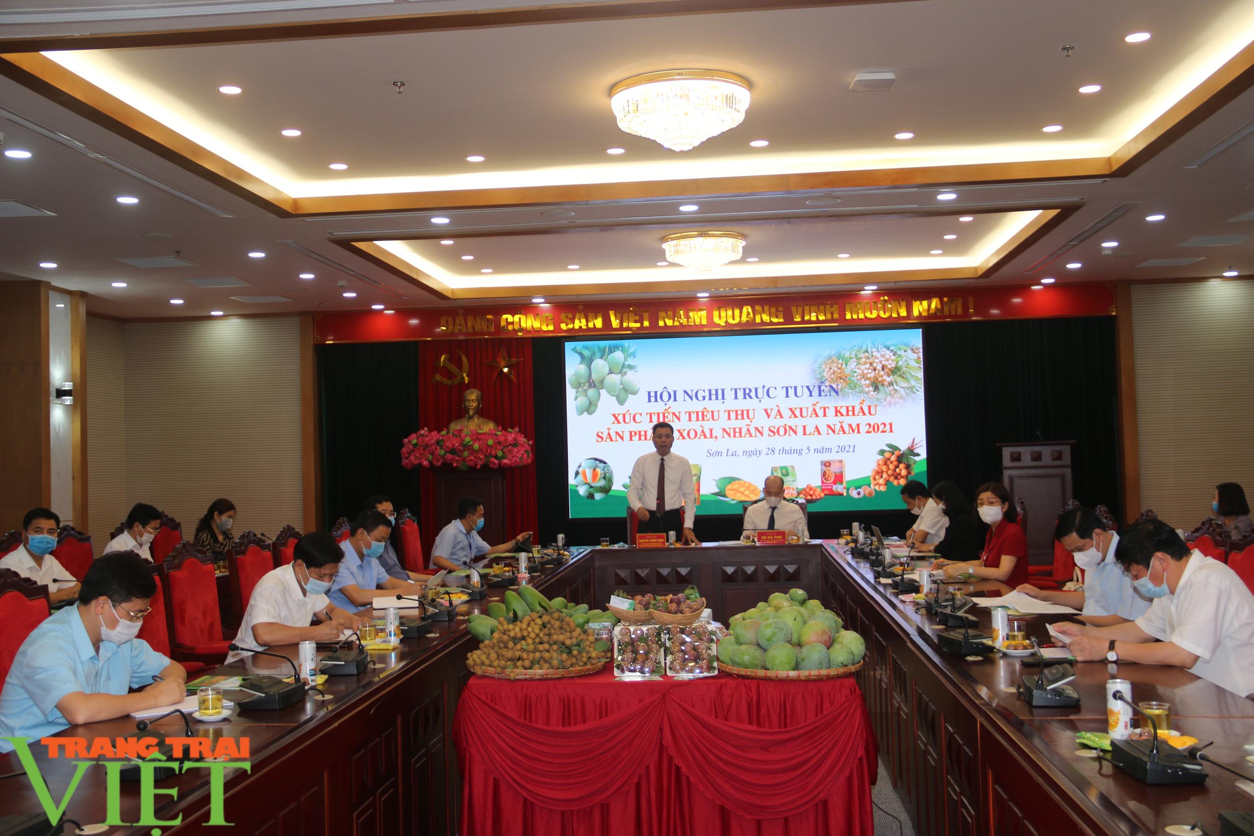 Sơn La: Tổ chức hội nghị trực tuyến xúc tiến tiêu thụ và xuất khẩu xoài, nhãn - Ảnh 1.