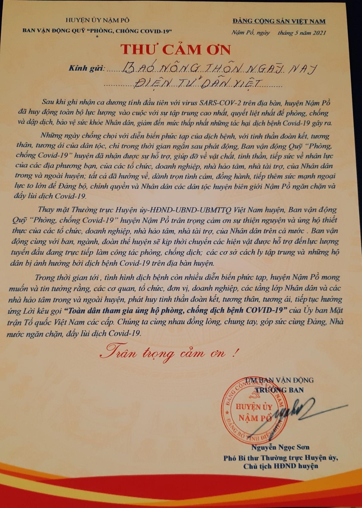 Báo NTNN/Điện tử Dân Việt trao quà của bạn đọc hỗ trợ đồng bào vùng dịch Nậm Pồ - Ảnh 6.