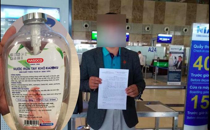 Thực hư chất lượng nước rửa tay khử khuẩn tại sân bay Nội Bài - Ảnh 1.