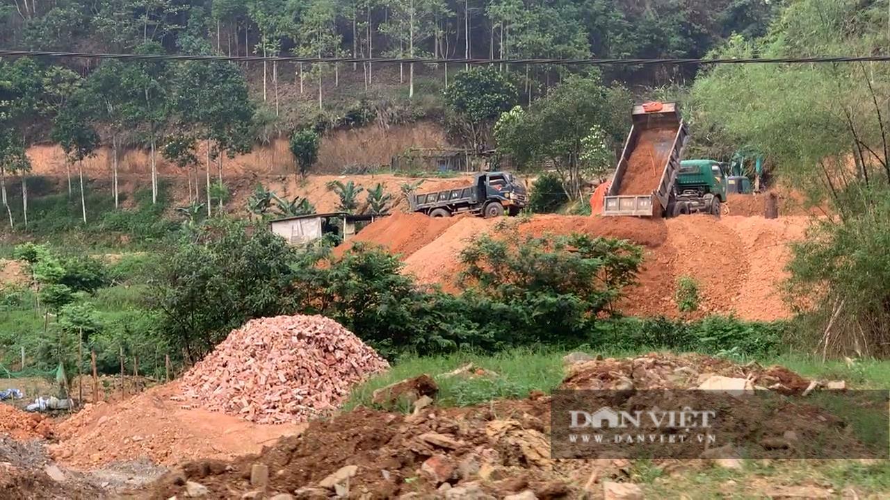 Bắc Kạn: Mở đường lên rừng, đổ đất lấp ruộng trái phép ngày cạnh UBND xã - Ảnh 2.