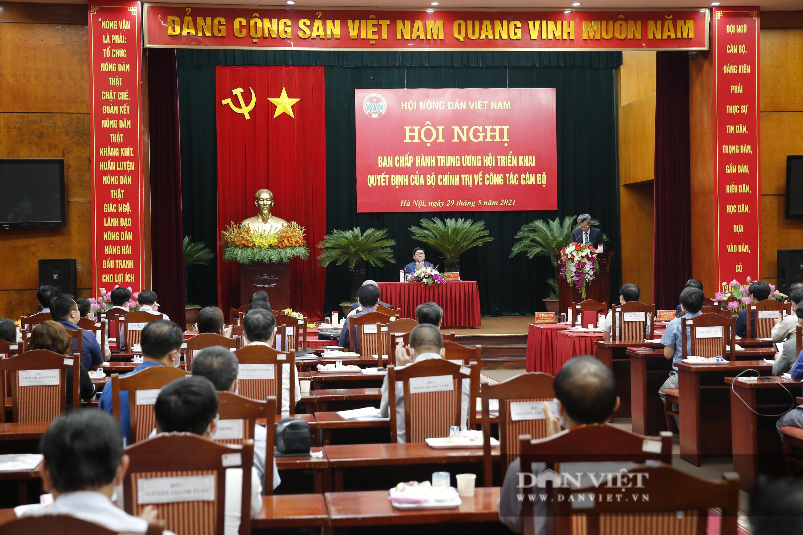 Ảnh: Hội nghị BCH TƯ Hội Nông dân Việt Nam triển khai quyết định của Bộ Chính trị về công tác cán bộ - Ảnh 1.