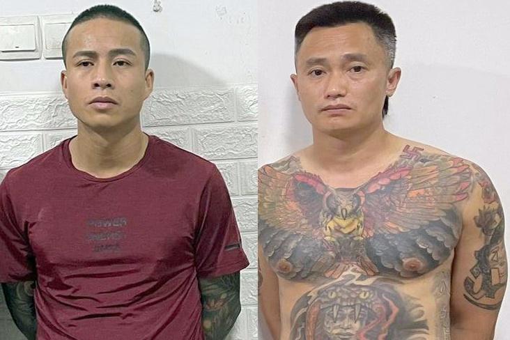 Bắt quả tang nhóm sử dụng ma túy trong chung cư, phát hiện 2 người mang lệnh truy nã toàn quốc - Ảnh 1.