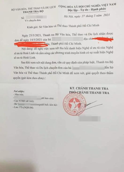 Bộ VHTT&DL nói gì trước đề nghị tước danh hiệu Nghệ sĩ Ưu tú của Hoài Linh? - Ảnh 1.