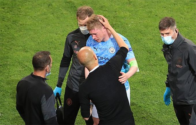 Dính đòn thâm tím mắt, Kevin de Bruyne có lỡ hẹn với EURO 2020? - Ảnh 1.