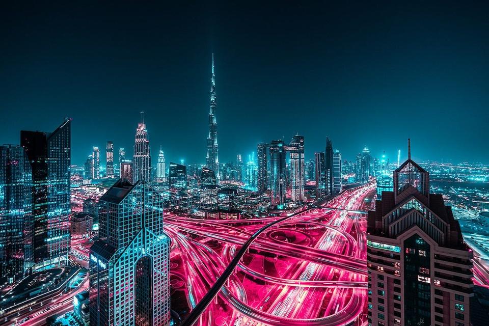 Ảnh phơi sáng biến Dubai thành một thành phố không ngủ về đêm - Ảnh 3.