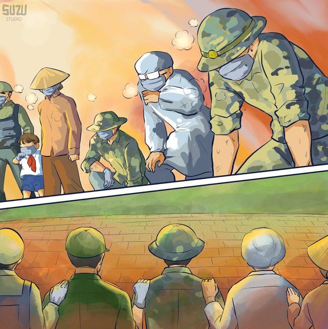 Cư dân mạng vẽ tranh cổ vũ y, bác sĩ ở Bắc Giang - Ảnh 6.