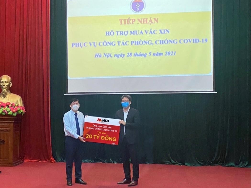 Ngân hàng MSB và Tập đoàn TNG Holdings Việt Nam ủng hộ 30 tỷ đồng cho quỹ phòng chống dịch Covid-19 - Ảnh 2.