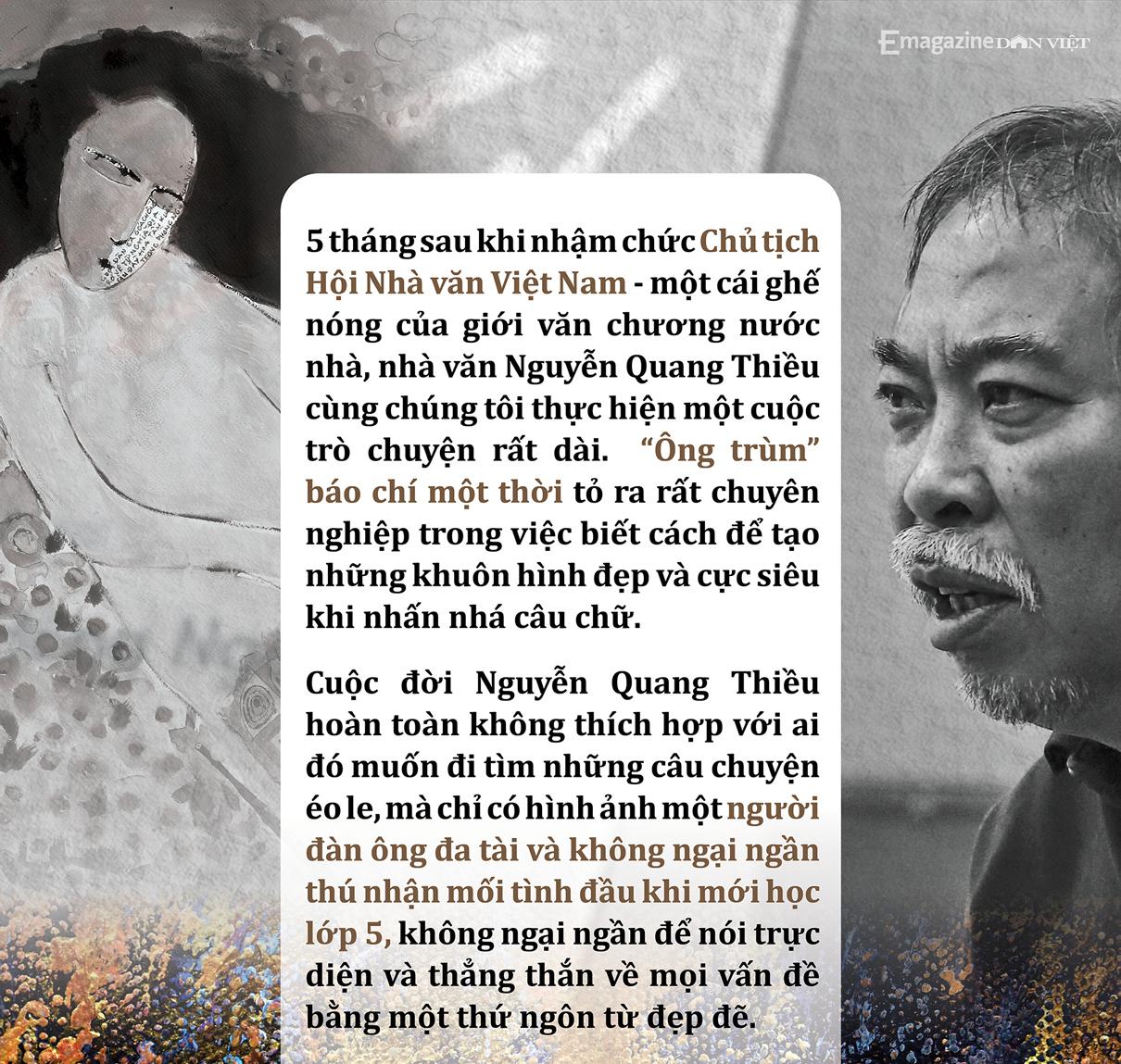 Nhà văn Nguyễn Quang Thiều: Sự đập cánh của đôi cánh tự do khác đôi chân của kẻ tuỳ tiện - Ảnh 1.
