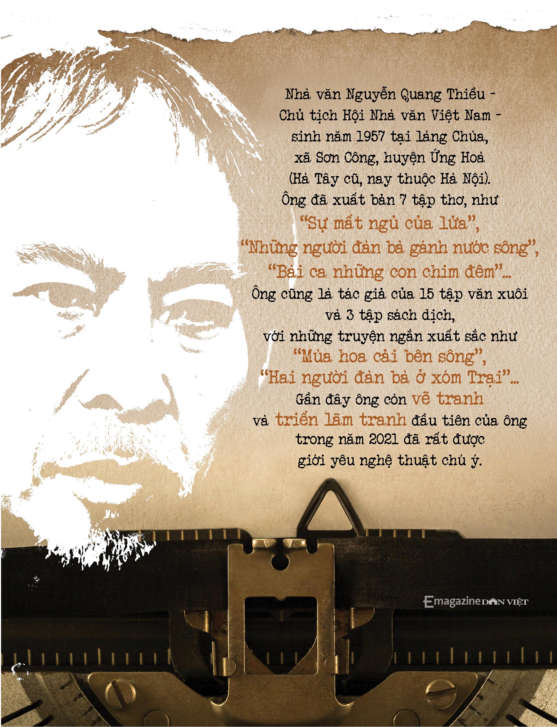 Nhà văn Nguyễn Quang Thiều: Sự đập cánh của đôi cánh tự do khác đôi chân của kẻ tuỳ tiện - Ảnh 25.