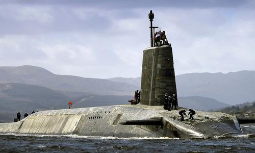 Tàu ngầm HMS Vigilant, một trong những vũ khí hạt nhân có sức hủy diệt hàng đầu của Anh