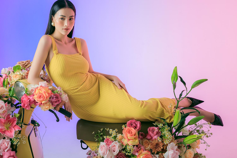 """Hoa hậu Phương Khánh diện đồ pastel hợp trend hè, khéo khoe eo thon gợi cảm """"ngất trời"""" - Ảnh 4."""