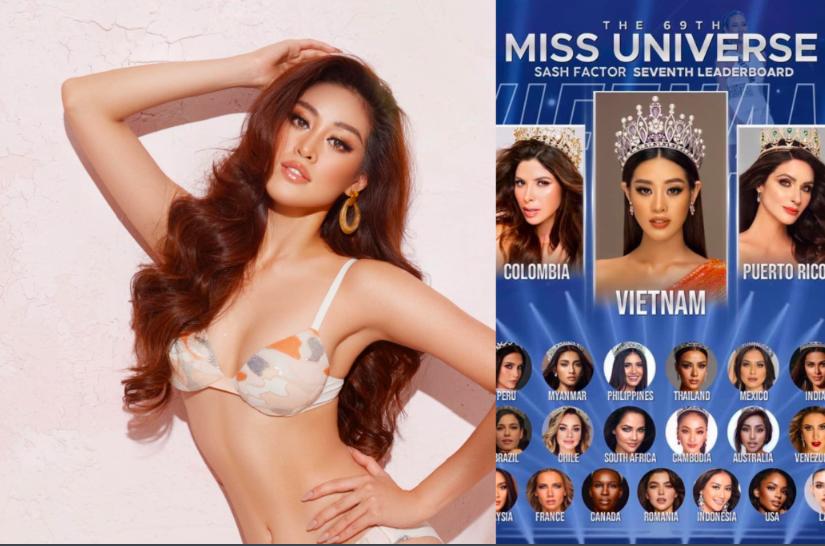 """Bất ngờ Khánh Vân được dự đoán đăng quang Miss Universe, """"vượt mặt"""" H'Hen Niê? - Ảnh 1."""