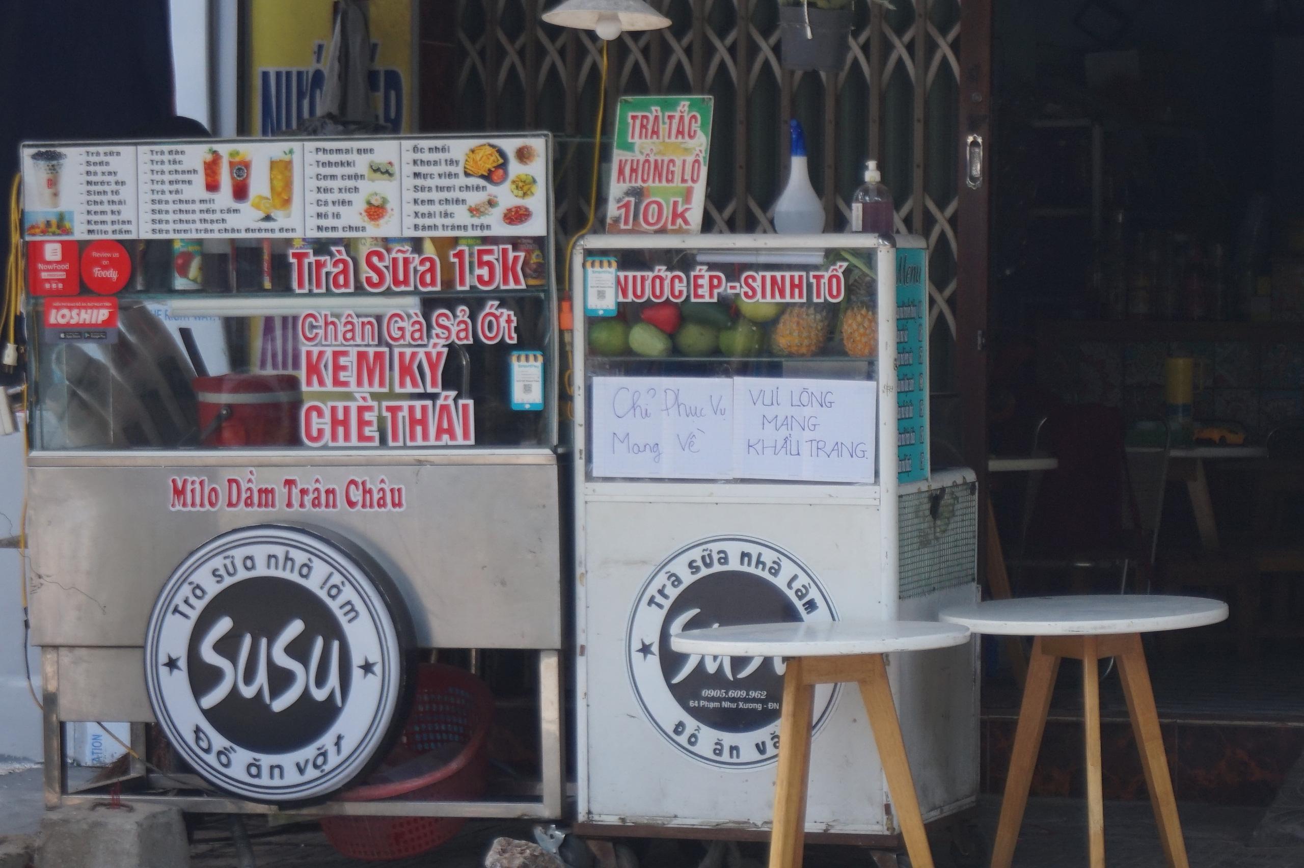 Đà Nẵng: Hàng quán nghiêm chỉnh treo bảng bán mang về, thậm chí đóng cửa để phòng chống dịch Covid-19 - Ảnh 7.