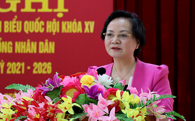 """Bộ trưởng Nội vụ Phạm Thị Thanh Trà: """"Hoàn thành tốt mọi nhiệm vụ, gắn bó chặt chẽ với cử tri"""" - Ảnh 1."""