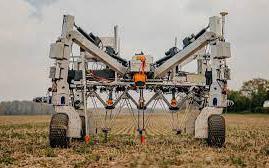 """Dùng Robot diệt cỏ dại bằng cách phóng điện thế lên đến 8.000 """"vôn"""""""