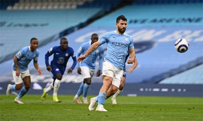 Man City lỡ cơ hội vô địch sớm, HLV Guardiola có trách Aguero? - Ảnh 1.