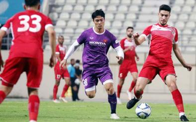 Chùm ảnh trận đấu kín giữa ĐT Việt Nam - ĐT Jordan ở UAE