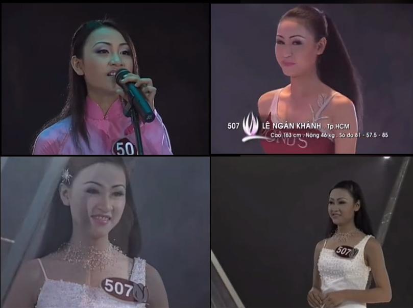"""Loạt ảnh Ngân Khánh thi Hoa hậu Việt Nam 2002 bị """"đào"""" lại gây sốt mạng xã hội - Ảnh 2."""